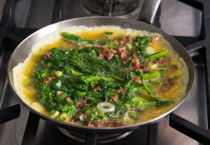 cooking-broccoli-rabe-omelette-bacon-cheddar-andyboy