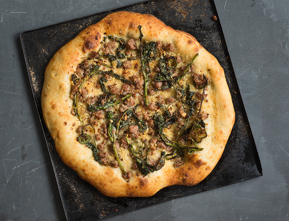 Pizza with Broccoli Rabe and Sausage