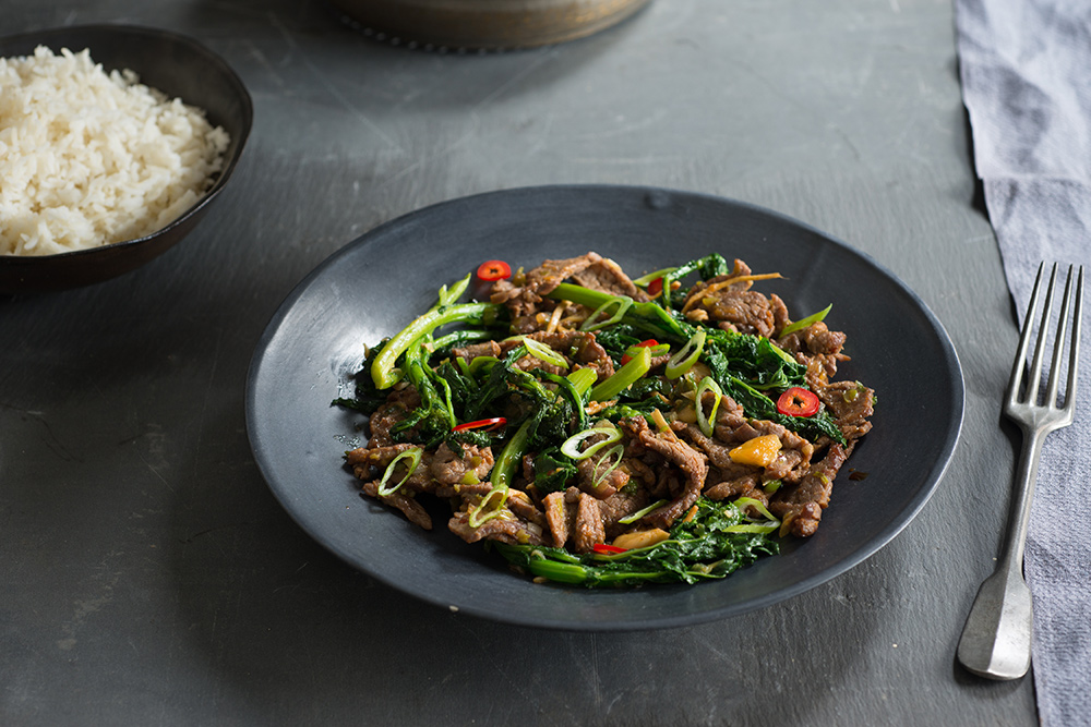 Beef and Broccoli Rabe Quick-Fry