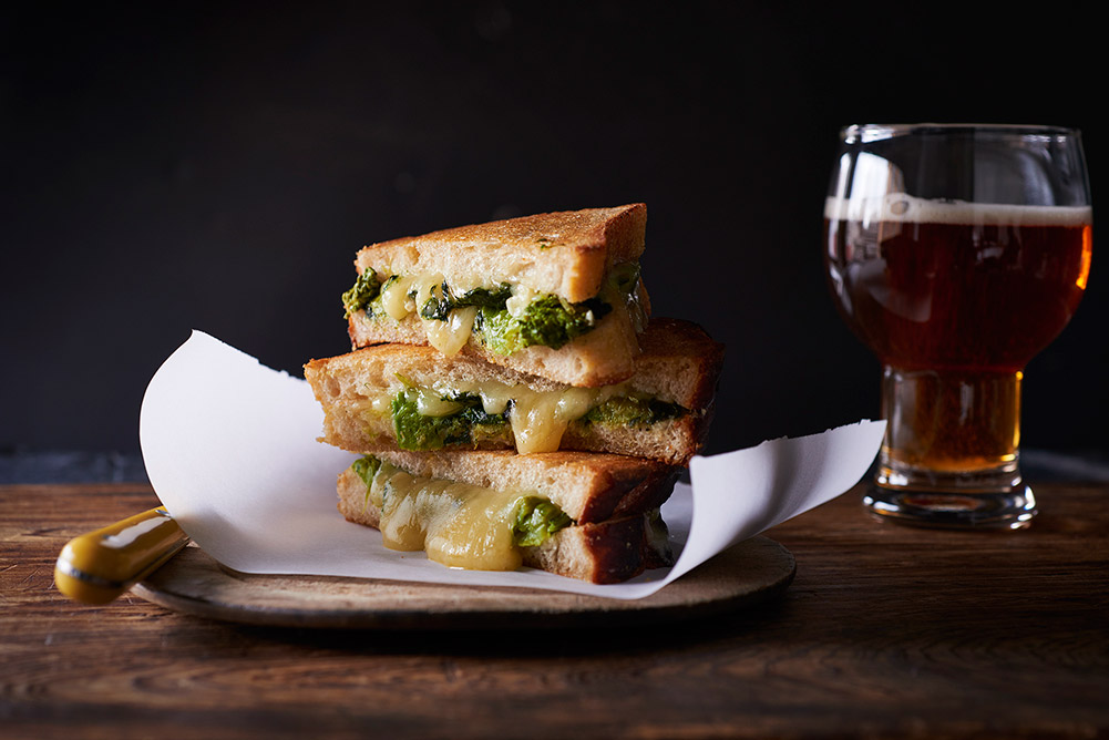 Braised Broccoli Rabe Grilled Cheese