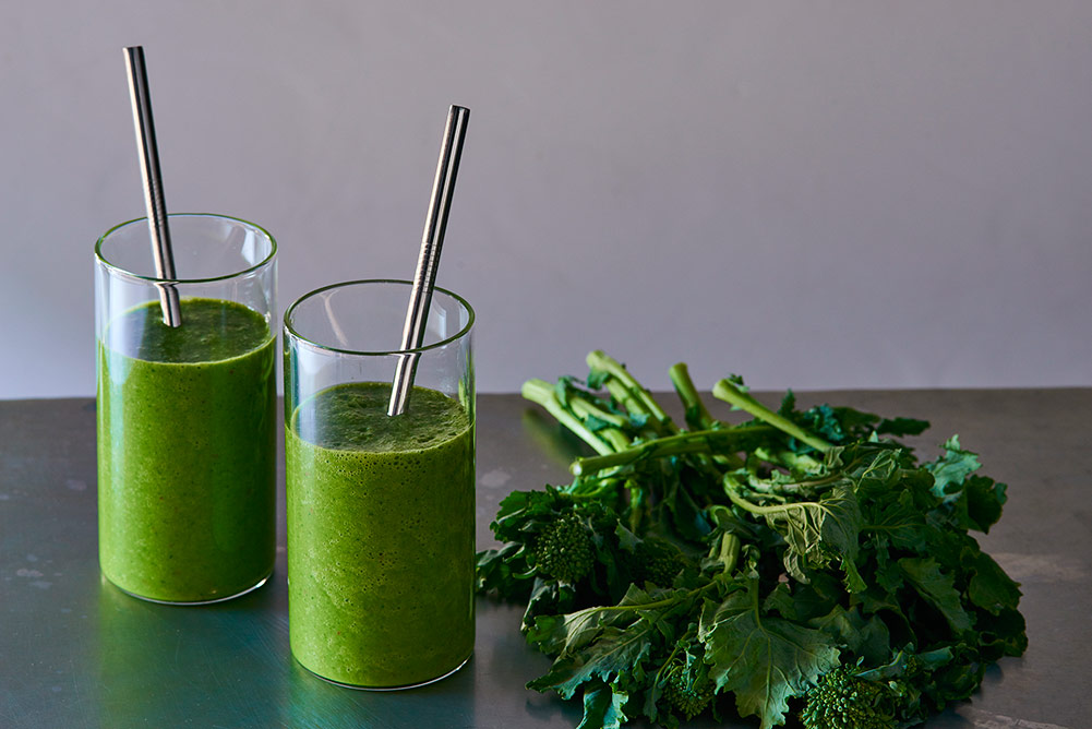 Broccoli Rabe Tropical Power Smoothie