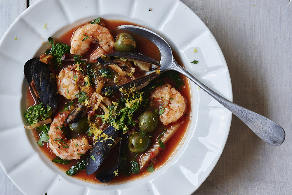 Seafood Broccoli Rabe Stew