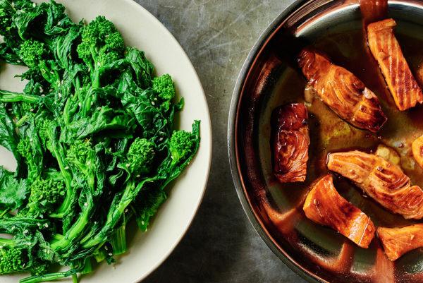 broccoli-rabe-maple-glazed-salmon-andy-boy