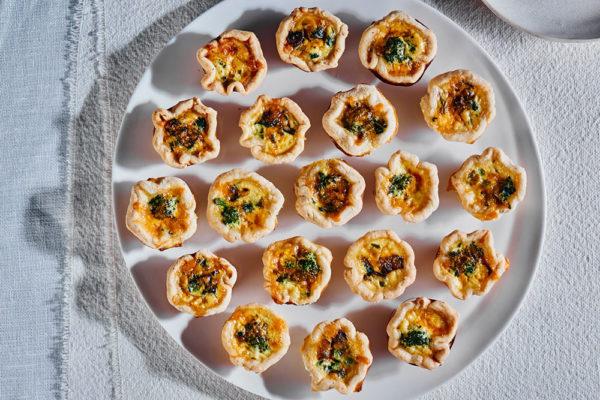broccoli-rabe-mushroom-cheddar-quiches