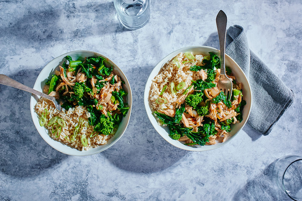 Slow Cooker Chicken Teriyaki with Broccoli Rabe