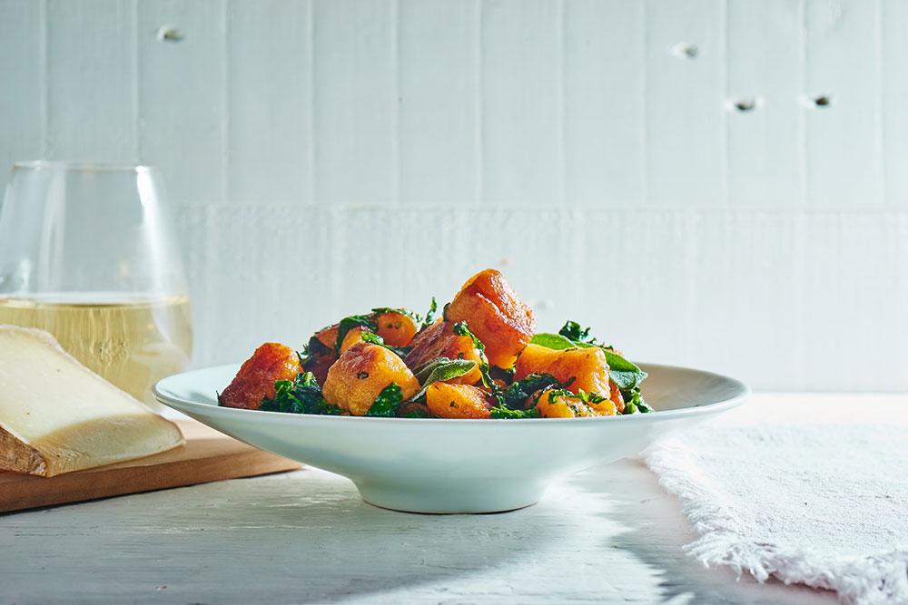 Sweet Potato Gnocchi with Broccoli Rabe