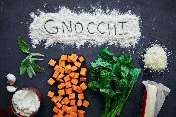 ingredients-sweet-potato-gnocchi-broccoli-rabe