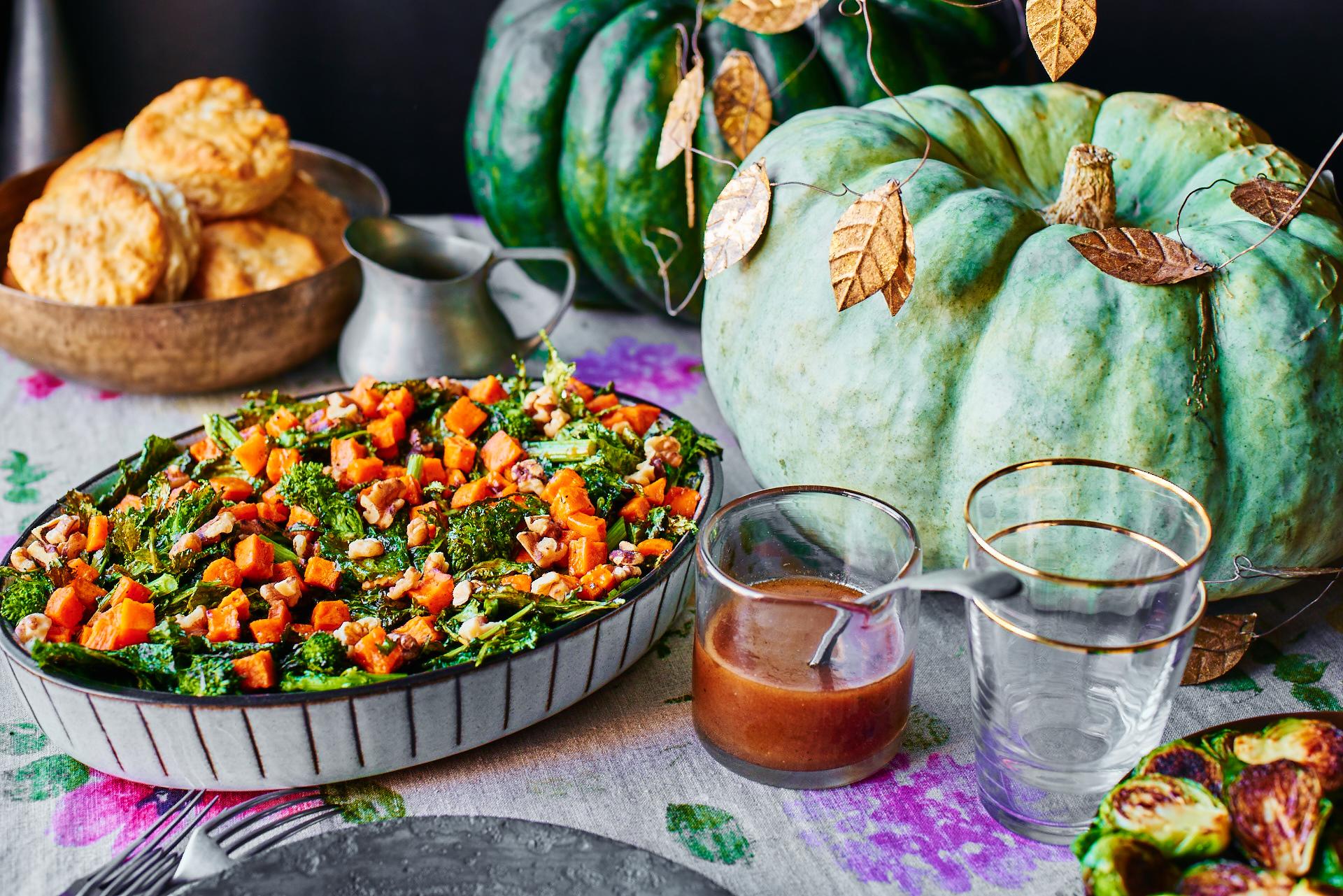 Roasted Sweet Potato and Broccoli Rabe Salad