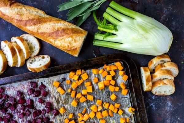 ingredients-beet-fennel-sweet-potato-crostini