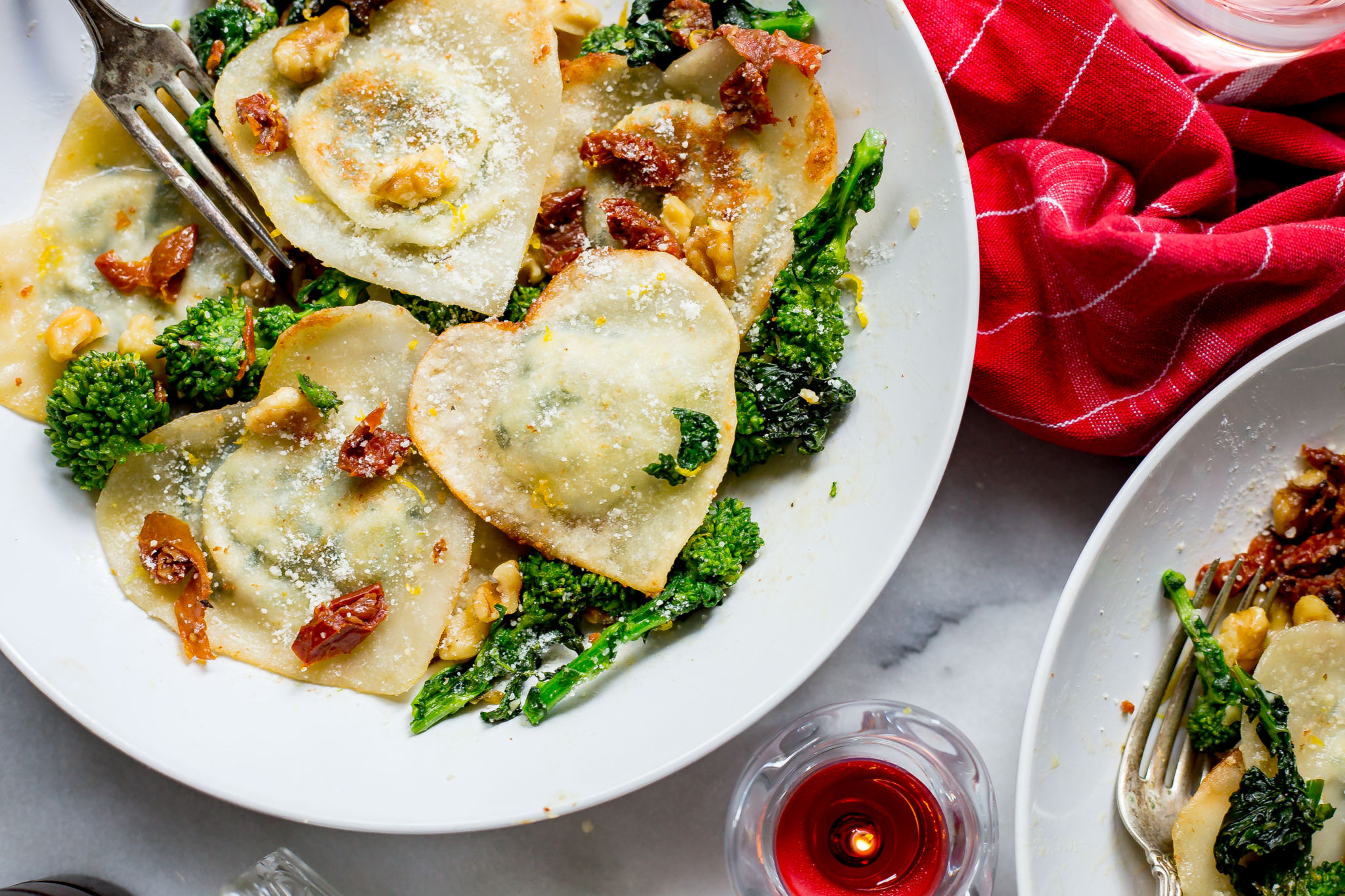 Quick and Easy Wonton Wrapper Broccoli Rabe Ravioli