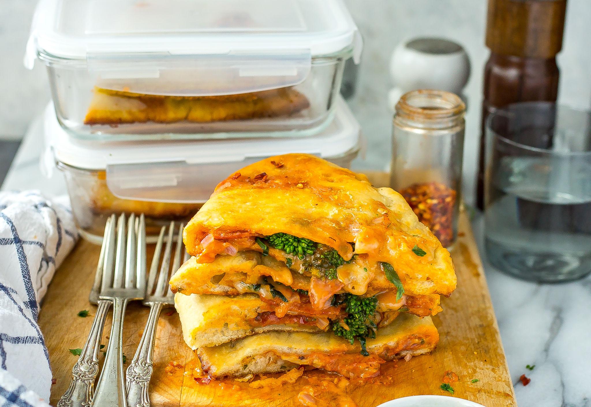 Broccoli Rabe Pizza Pockets