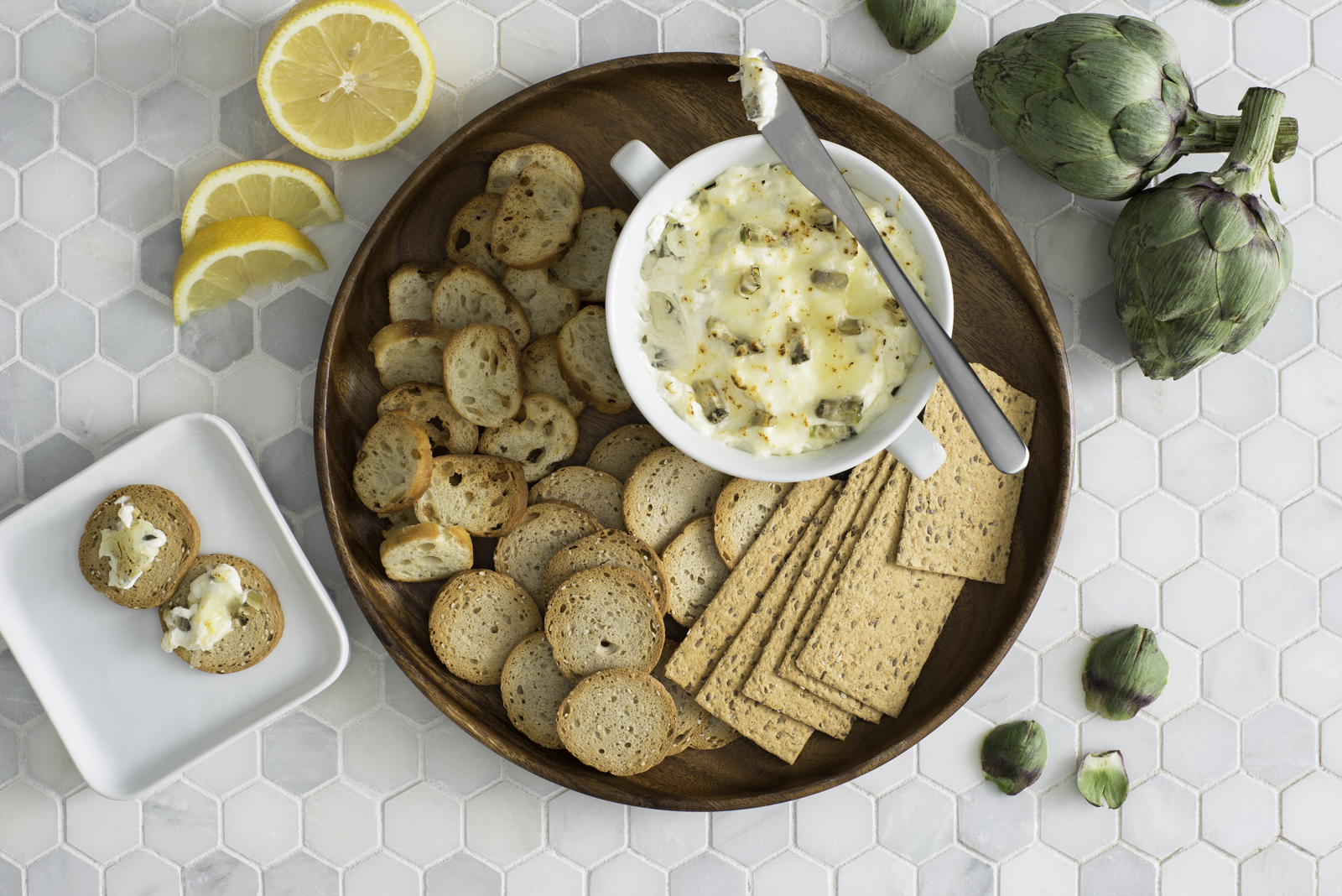 Roasted Artichoke and Asiago Dip