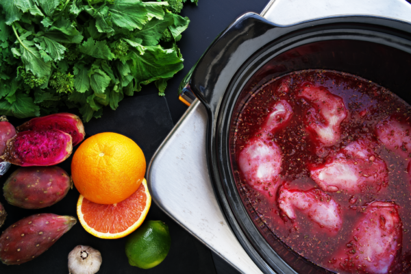 slow-cooker-cactus-pear-chicken-broccoli-rabe