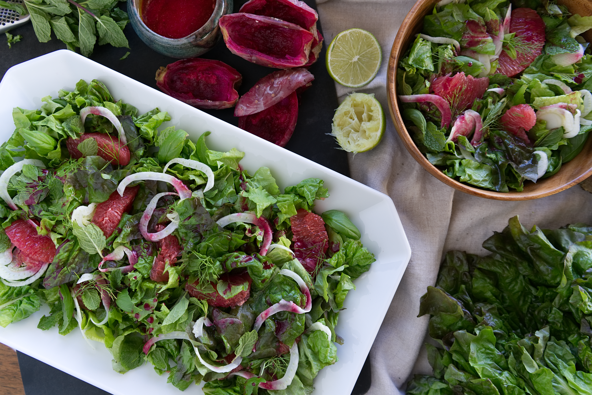 Grapefruit, Fennel and Herb Salad with Cactus Pear Vinaigrette