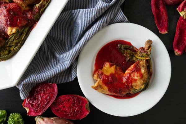 slow-cooker-cactus-pear-chicken-rapini-recipe