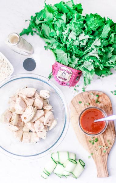 ingredients-vegan-buffalo-jackfruit-rapini-flatbread