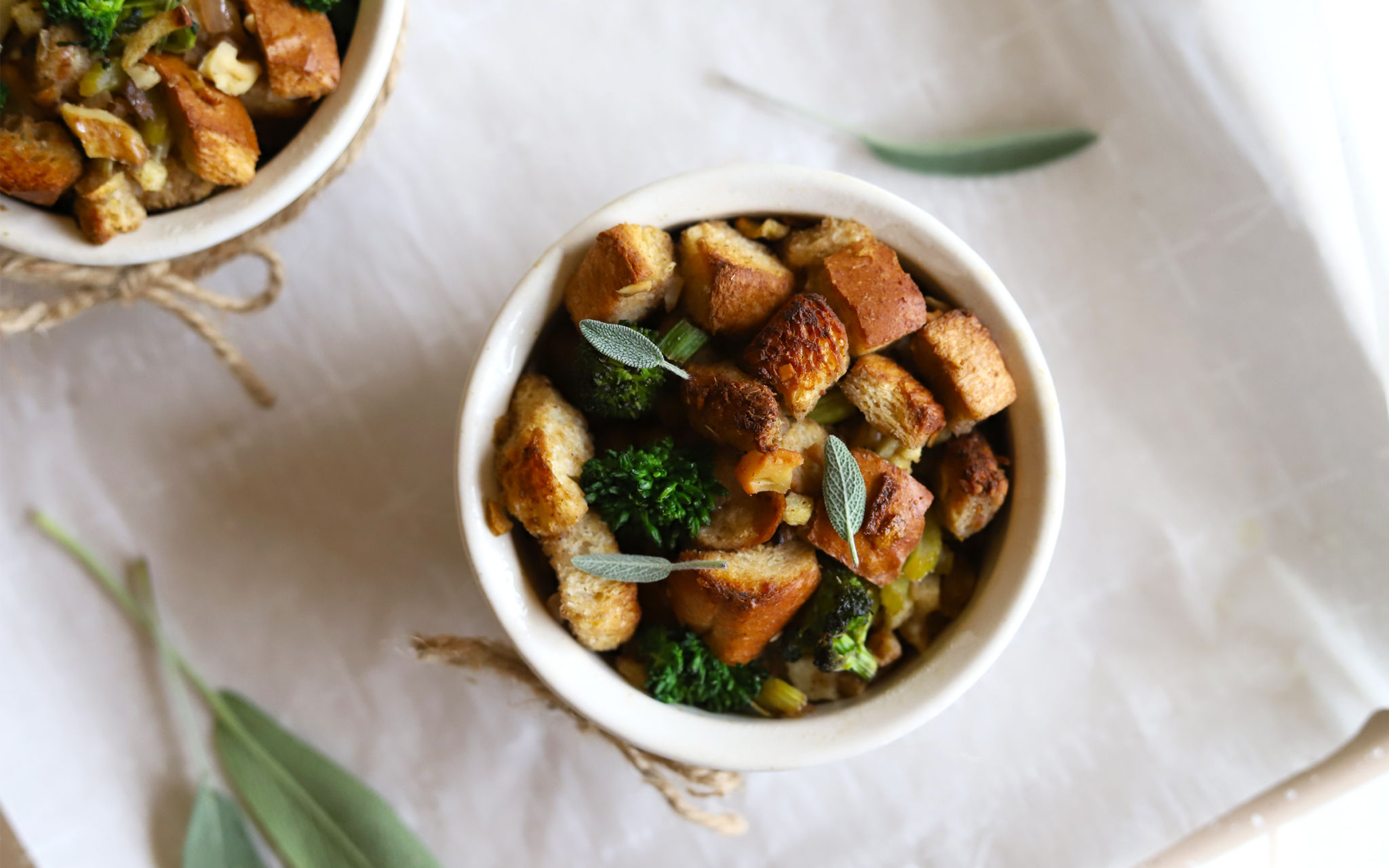 Broccoli Rabe Holiday Stuffing Cups