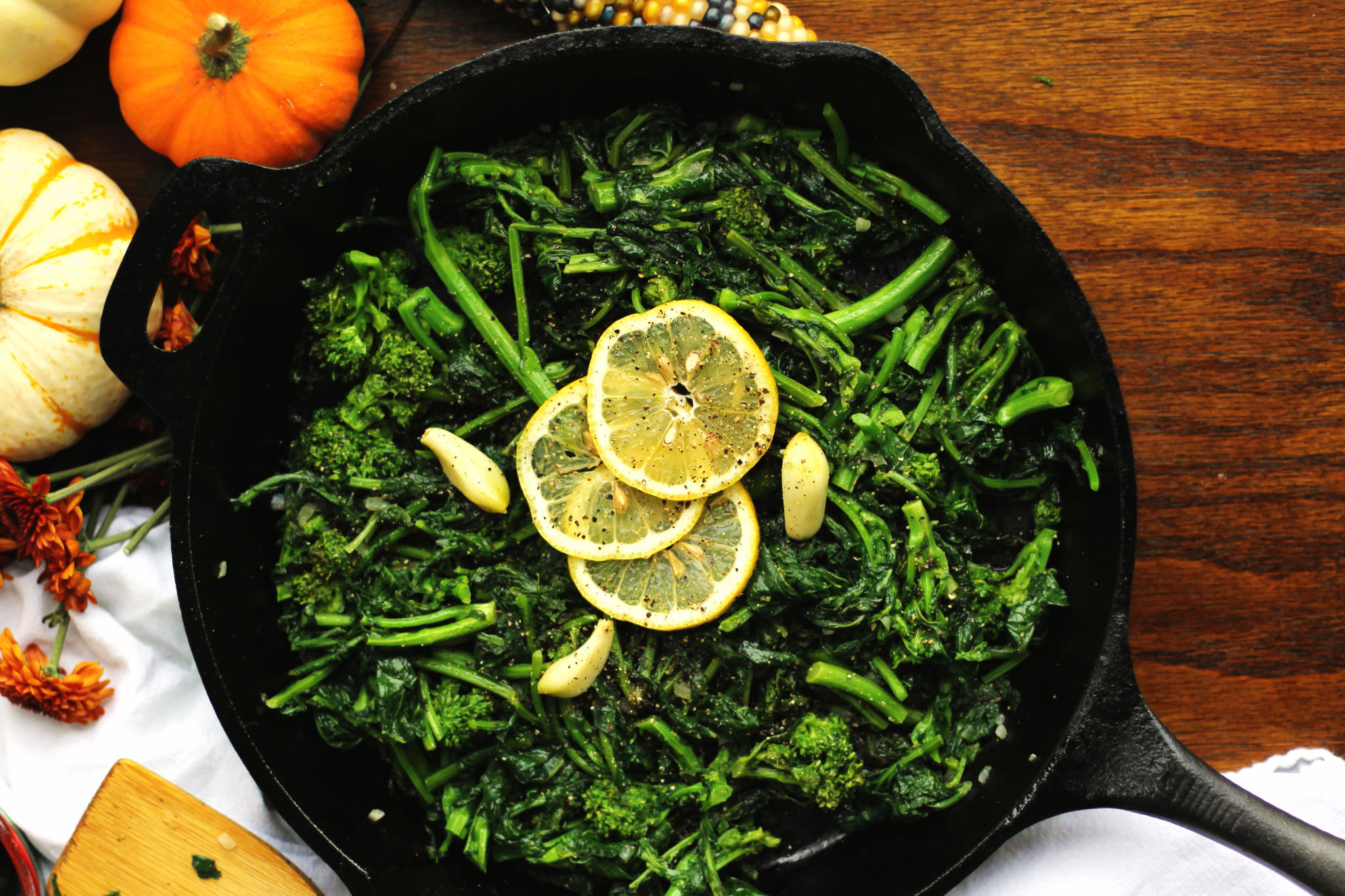 Garlicky Sautéed Broccoli Rabe and Kale