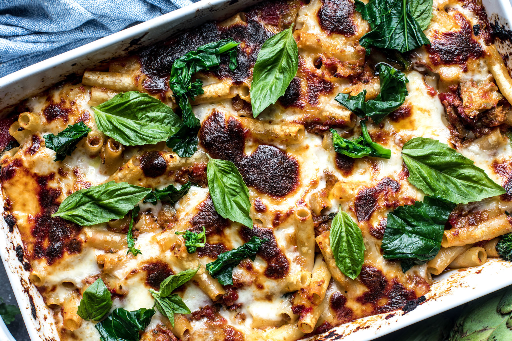 Broccoli Rabe and Artichoke Baked Ziti